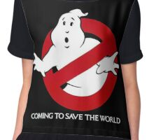 Ghostbusters Coming To Save The World Chiffon Top