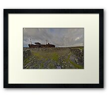 The Plassey - a wrectangular view Framed Print
