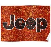 Lava Jeep typograph Poster