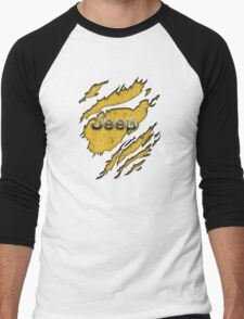 muddy yellow Jeep with chrome typograph Men's Baseball ¾ T-Shirt