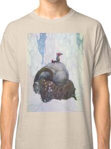Jullbocken The Yule Goat Being Ridden By A Child Classic T-Shirt