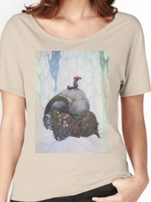 Jullbocken The Yule Goat Being Ridden By A Child Women's Relaxed Fit T-Shirt