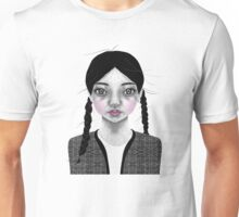 002 Black Braids & Fly-Away Hair Unisex T-Shirt