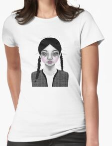 002 Black Braids & Fly-Away Hair Womens Fitted T-Shirt