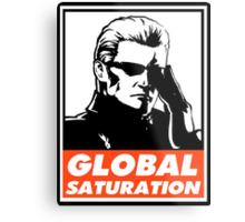 Wesker Global Saturation Obey Design Metal Print