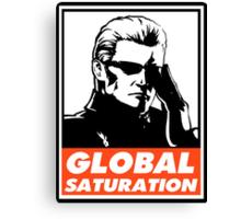 Wesker Global Saturation Obey Design Canvas Print