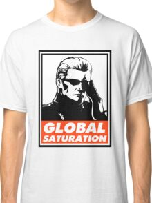 Wesker Global Saturation Obey Design Classic T-Shirt