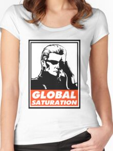 Wesker Global Saturation Obey Design Women's Fitted Scoop T-Shirt