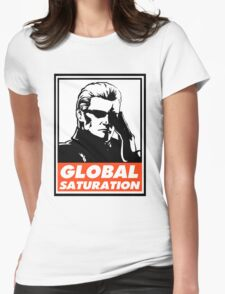 Wesker Global Saturation Obey Design Womens Fitted T-Shirt