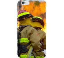 firefighters battle a wildfire iPhone Case/Skin