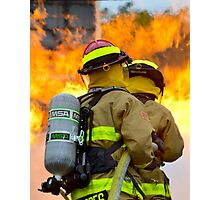 firefighters battle a wildfire Photographic Print