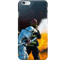 firefighters spray water to wildfire iPhone Case/Skin