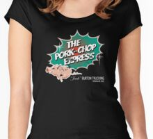 Pork Chop Express - Distressed Green Variant Women's Fitted Scoop T-Shirt