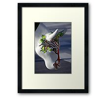 Cow with tree, Ebrington, Derry Framed Print