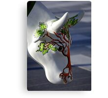 Cow with tree, Ebrington, Derry Canvas Print