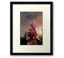 Athena, Born of Zeus Framed Print