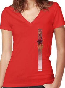 Athena, Born of Zeus Women's Fitted V-Neck T-Shirt
