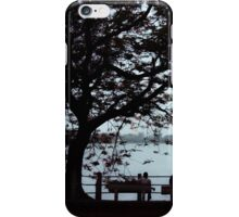Evening by the lake iPhone Case/Skin