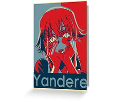 Yandere Greeting Card