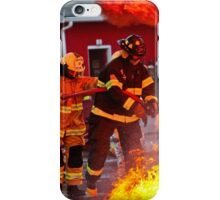Firefighters in action iPhone Case/Skin