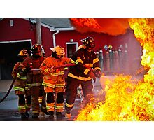 Firefighters in action Photographic Print
