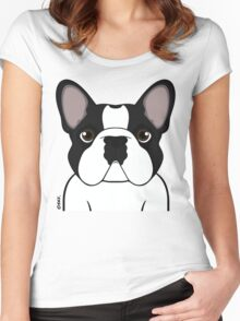 Frenchie - Brindle Pied Women's Fitted Scoop T-Shirt