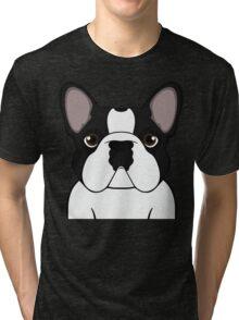 Frenchie - Brindle Pied Tri-blend T-Shirt