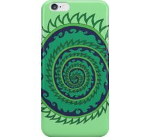 Spiked Wavy Spiral (green) iPhone Case/Skin
