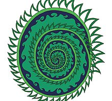 Spiked Wavy Spiral (green) by KaySpike