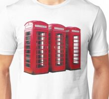 Red Phoneboxes Unisex T-Shirt