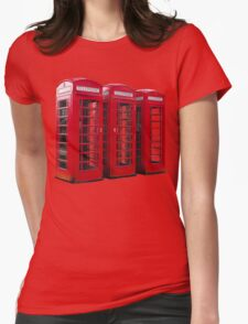 Red Phoneboxes Womens Fitted T-Shirt