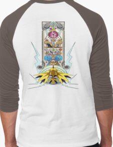 Electric Type Men's Baseball ¾ T-Shirt