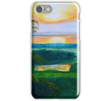 Sunset over French Island on Westernport, Victoria iPhone Case/Skin