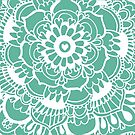Teal Lacework Doodle by Tangerine-Tane