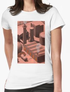 Low Poly Industry Womens Fitted T-Shirt