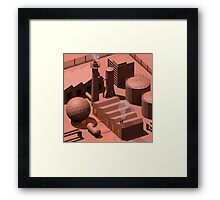 Low Poly Industry Framed Print