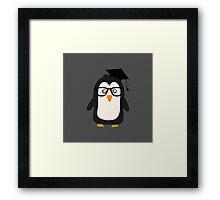 Penguin nerd Framed Print