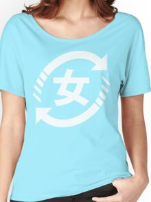 Recycle Japanese Girls | Kanji Nihongo Sign Women's Relaxed Fit T-Shirt