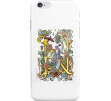 "The Illustrated Alphabet Capital  N  ""Getting personal"" iPhone Case/Skin"