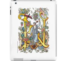 "The Illustrated Alphabet Capital  N  ""Getting personal"" iPad Case/Skin"