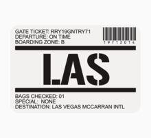 Las Vegas airport destination stamp by GentryRacing
