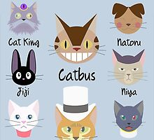 THE CATS OF STUDIO GHIBLI by lwswrghtdsgn