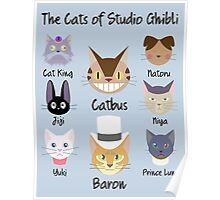 THE CATS OF STUDIO GHIBLI Poster