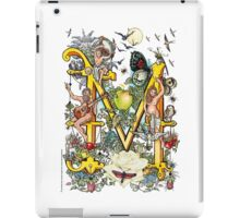 "The Illustrated Alphabet Capital  M  ""Getting personal"" iPad Case/Skin"