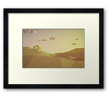 Trees and Hills Framed Print