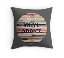 Vinyl Addict records Throw Pillow