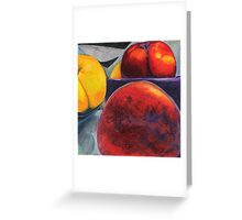 Stoned Fruit in Color Pencil Greeting Card