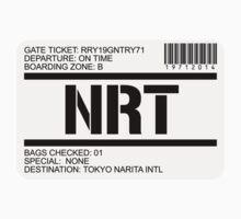 Tokyo Narita airport destination stamp by GentryRacing