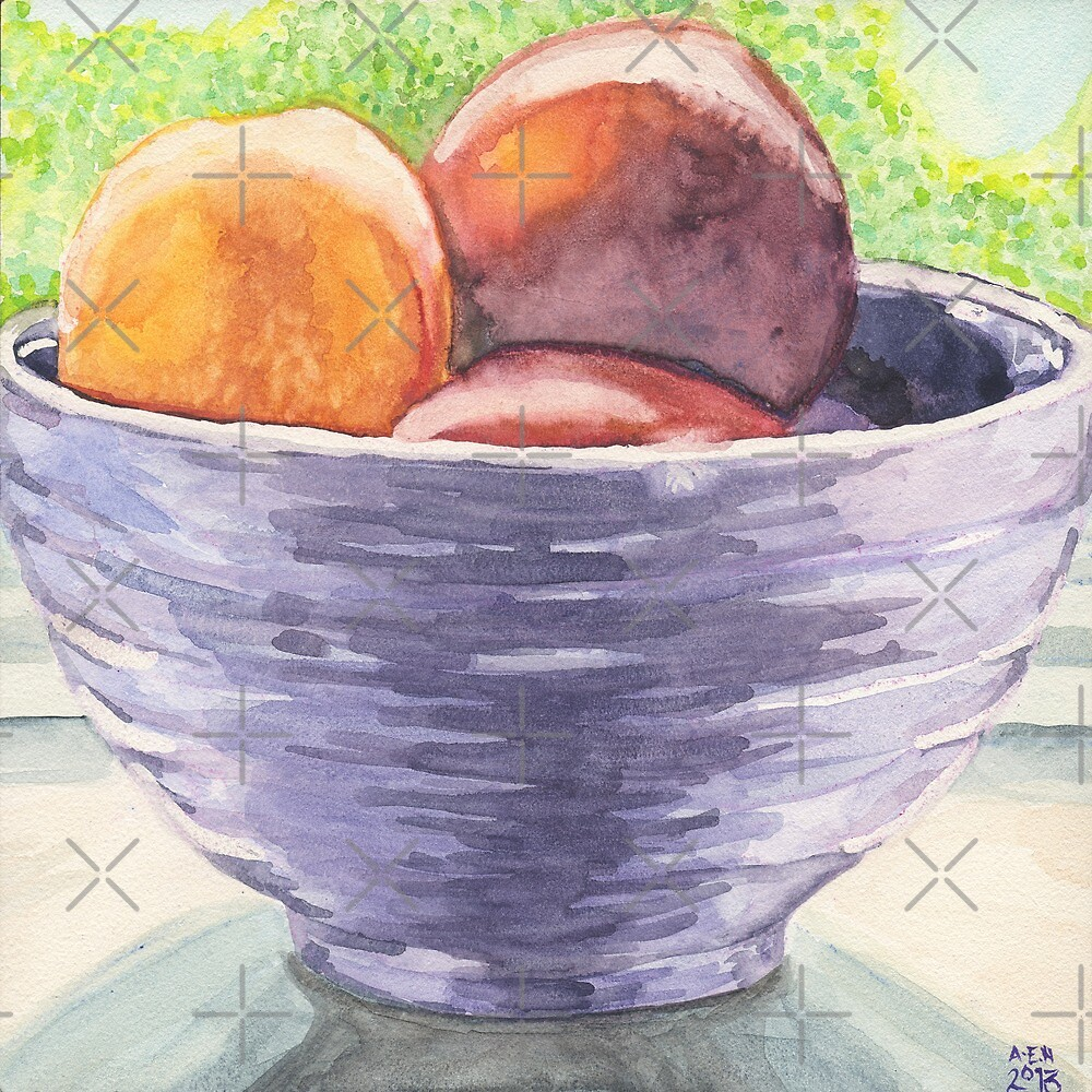 Stoned Fruit in Watercolor by Amy-Elyse Neer