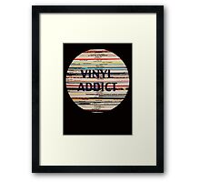 Vinyl Addict records Framed Print